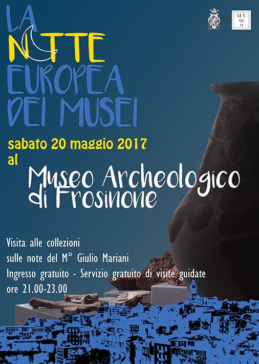 La notte europea dei musei 2017 a Frosinone